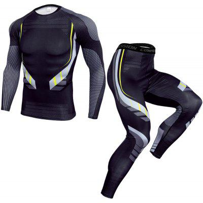 Mens Tights Suit Quick Drying Fitness Training Suit