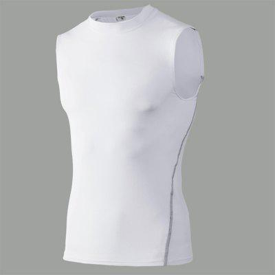 Mens Tank Top Pro Sports Running Fitness Basketball Elastic Quick Drying Vest