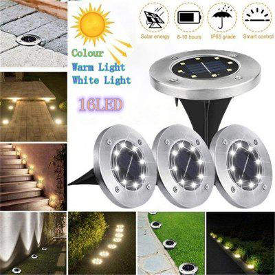 New 16 LED Durable Waterproof Garden Decor Ground Lights Solar Power Buried Light Outdoor Lighting Underground Lamps