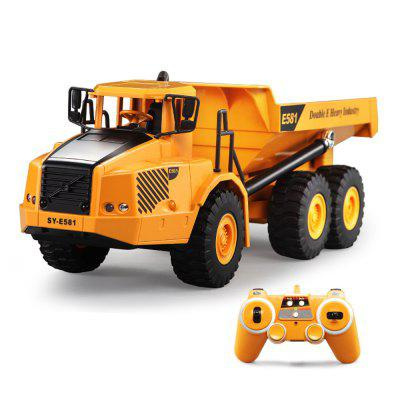 4WD RC Car 2.4G 6ch Dump Truck Engineering Construction Loading Remote Control Trailer Model Toys For Kid Gift