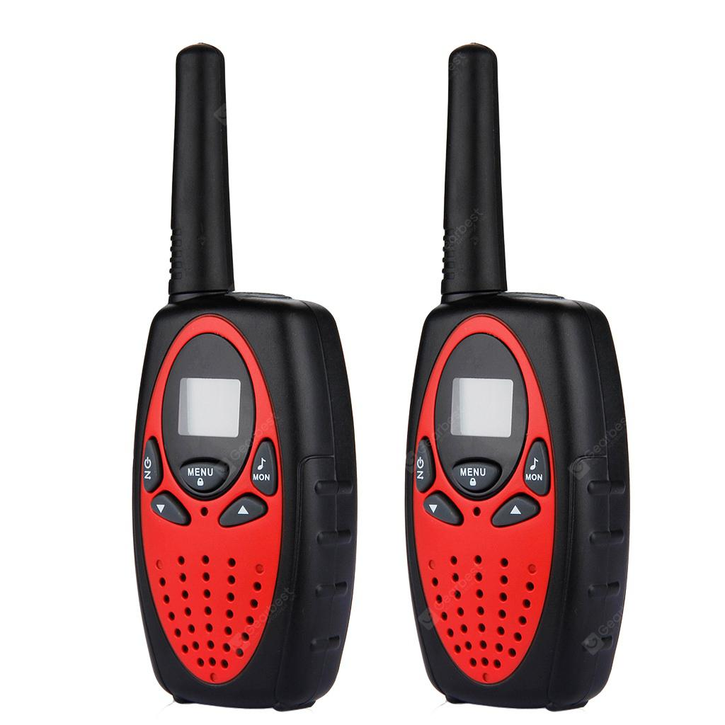 8 Channel Twin Walkie Talkies UHF400-470MHZ 2-Way Radio 3KM Interphone Red/Black - LAVA RED