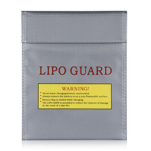 Lipo Battery Increase Explosion Proof Bag Fireproof Guard Charge 18x23cm Silver