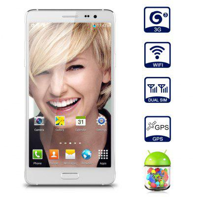 Refurbished UHAPPY 570 Smartphone Cellphone Mobile Phone Unlocked Android 4.4.2 MTK6582 Quad Core 1.3GHz Multi-point Touch Screen HD 5.7\\\QHD 1280*720 Pixels 3G Dual SIM GSM/WCDMA ROM 8GB + RAM 1GB