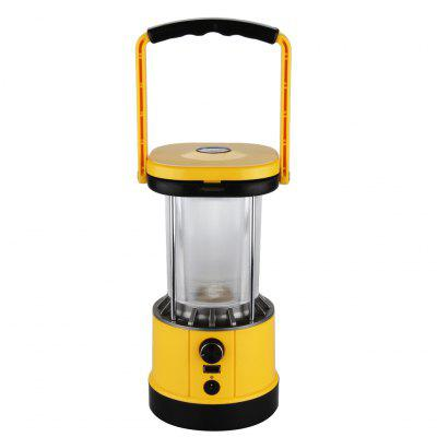 Excelvan@SL01 Portable Outdoor Solar Camping LED Lantern,8LEDs,2.2W solar panel,build-in Rechargeable 2*1800mah Lithium-ion Batteries,5V USB output For Cell Phone Charging,Adjustable Brightness. For H