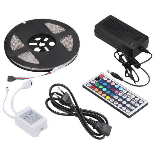 Excelvan 16 4ft 5m Waterproof Flexible Strip Smd5050 300leds Color Changing Led Light Kit Ip65 44key Ir Remote Control 5a Adapter