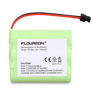 2X Floureon Uniden Replacement BT-905 cordless phone Battery 3.6V 1500mAh Ni-MH Fruit Green