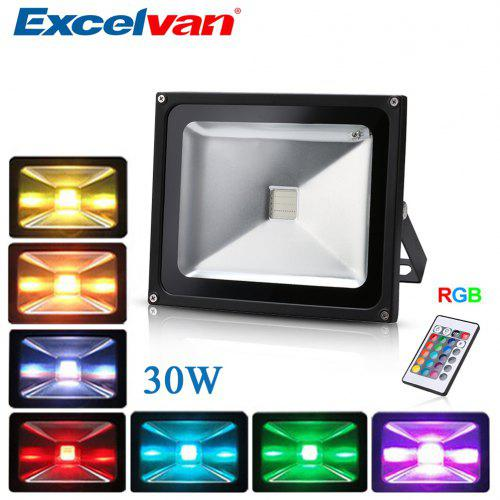 Excelvan 30w Remote Control Rgb Led Flood Lights 16 Colours Changing 4 Modes