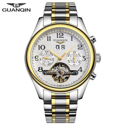 GUANQIN Classical Tourbillon Automatic Mechanical Watch Waterproof 100m Male Wristwatch