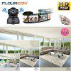 FLOUREON 720P Wifi Megapixel H.264 Wireless PT  CCTV Security IP Camera Black UK - BLACK