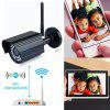 Szsinocam 1080P Waterproof H.264 Wireleess 2.0 Megapixel  WLAN Security  WiFi IP Camera EU - BLACK