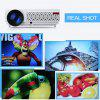 Excelvan 96+ Native 1280*800 support 1080p Led Projector White EU PLUG - WHITE