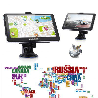 FLOUREON 7'' Touch Screen Truck&Car GPS Navigation SAT NAV Navigator Free EU UK Maps 8GB