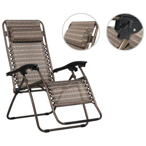 Fold Lounge Chair Bronze Finether Folding Zero Gravity Reclining With Adjule