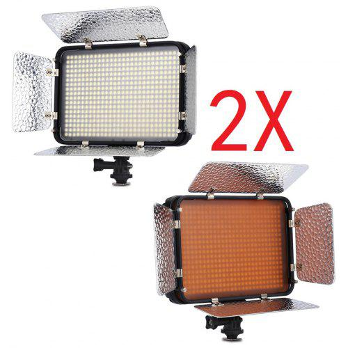 2 X Excelvan Pt 504s 504pcs Led Video Light 5600k Oncamera Light Panel Photographic Lighting Touching Flat With Detachable Barn Doors For Nikon Canon