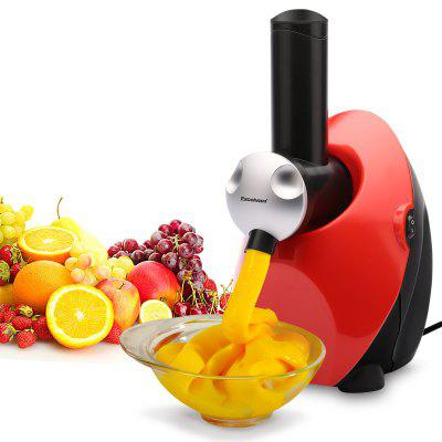 EXCELVAN Frozen Healthy Fruit Ice Cream/ Frozen Yogurt and Dessert Maker Blender Sweet Treat Smoothie Machine,Red