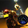 LCD Digital Motorcycle Digital Speedometer - BLACK