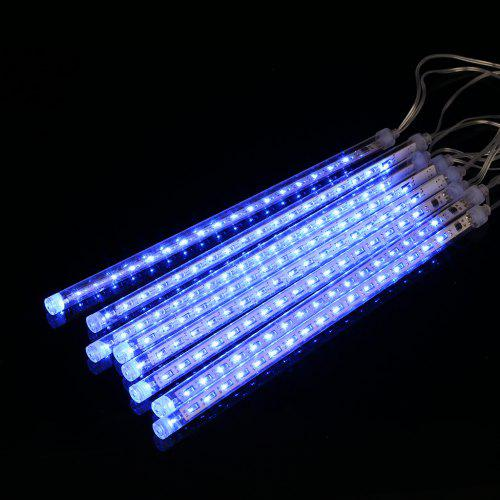 Gearbest (EU STRING LIGHT TUBE BLUE) Finether 13.1 ft 8 Tube 144 LED Meteor Shower Rain Snowfall Plug-In String Lights for Holiday Christmas Halloween Party Indoor Outdoor Decoration Commercial Use, Blue Glow - BLUE EU PLUG