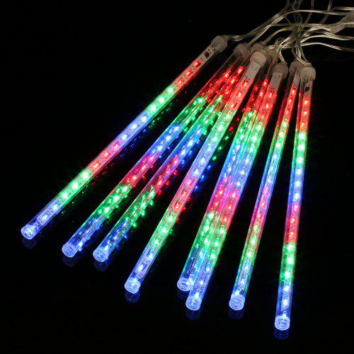 Gearbest (EU STRING LIGHT TUBE MULTI) Finether 13.1 ft 8 Tube 144 LED Meteor Shower Rain Snowfall Plug-In String Lights for Holiday Christmas Halloween Party Indoor Outdoor Decoration Commercial Use, Multi-Col - COLORFUL EU PLUG