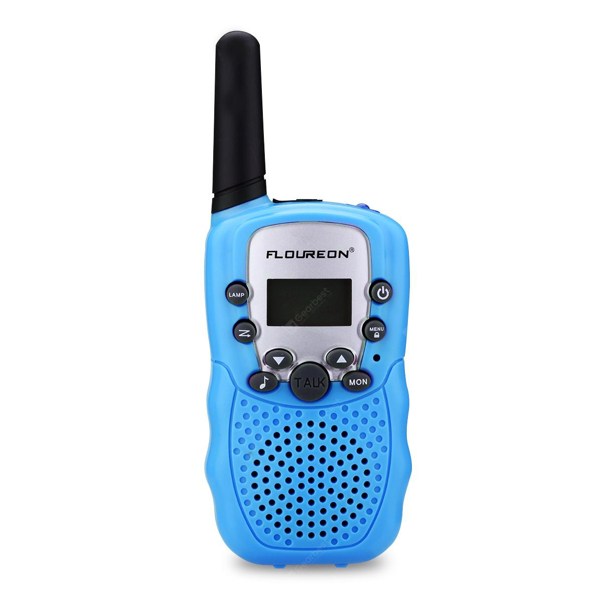 FLOUREON 8 Channel Twin Walkie Talkies UHF400-470MHZ 2-Way Radio 3 Km Range Blue - BLUE