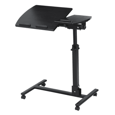 (LAPTOP CART) LANGRIA Portable Rolling Laptop Cart, Mobile Desk Notebook  With Angle