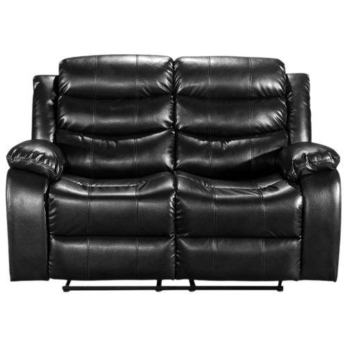 Enjoyable Uk Recliner 2 Seater Black Langria Luxury Bonded Leather Match Double Reclining Loveseat 2 Seater Sofa Chair With Split Back Pillow Top Backrest Gmtry Best Dining Table And Chair Ideas Images Gmtryco