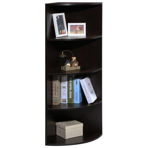 SHELF 5 TIER CORNER BOOKCASE DARK WALNUT LANGRIA Tier Modular Corner