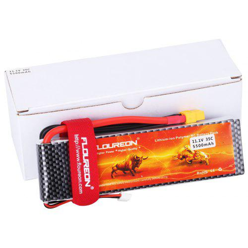 FLOUREON 11.1V 5500mAh 3S1P 35C Lipo RC Battery XT60 for RC Helicopter RC Airplane RC Hobby