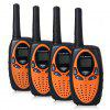 FLOUREON 8 Channel 4*Twin Walkie Talkies UHF400-470MHZ 2-Way Radio 3KM Range Interphone 0range - ORANGE