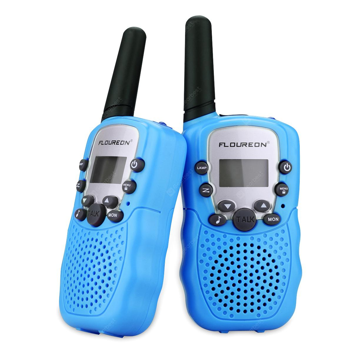 FLOUREON 22 Channel Twin Walkie Talkies UHF462-467MHZ 2-Way Radio 3 Km Range Blue - Blue