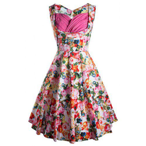 4cca3461462 Zaful Woman Vintage Dress Spring And Summer Floral Printing Elegant Style  Sweetheart Neckline And Sleeveless Design Vintage Dress -  19.84 Free ...