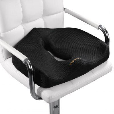 LANGRIA Contoured Firm Memory Foam Seat Cushion, Black