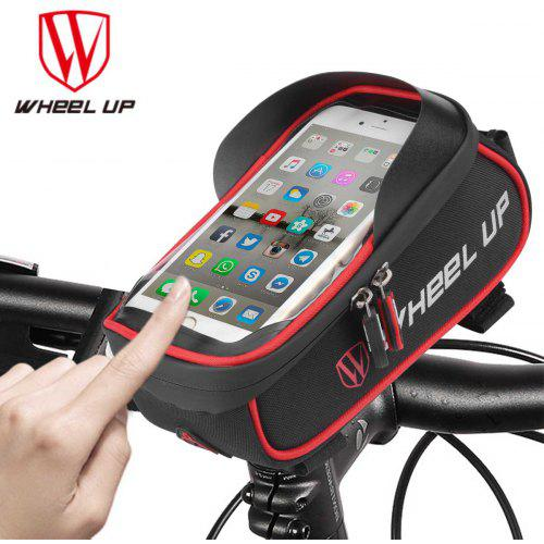 aa0c357c1ce Wheel Up Waterproof Bicycle Front Basket Touch Screen Frame Handlebar Bag  Cycling Phone Bag