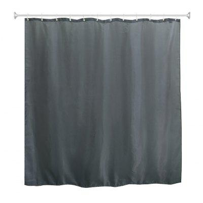 "(SHOWER CURTAIN GREY) Fabric Bathroom Shower Curtain with Metal Grommets, 12 Hooks for Free, Water Repellent Waterproof Liner, No Chemical Odor, 71""x 71"", Grey"