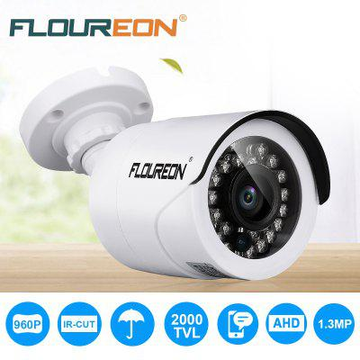 Gearbest FLOUREON 960P 1.3MP 2000TVL PAL Waterproof Outdoor CCTV DVR Security Camera Night Vision - WHITE