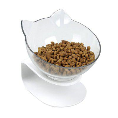 Pet Cats Transparent Bowl with Holder Anti-slip Cat Food Dish Pet Feeder Water Bowl Perfect For Cats