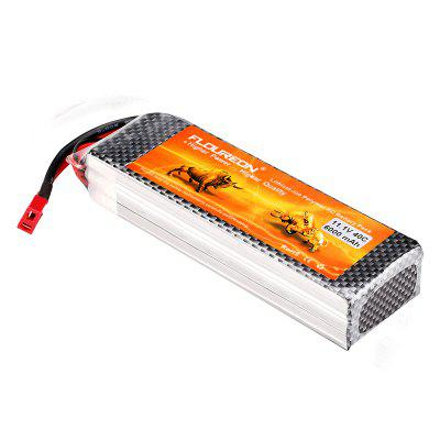 FLOUREON 3S 11.1V 6000mAh 40C Li-Polymer Battery Pack with T Plug for RC Helicopter RC Car RC Boat