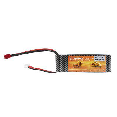 FLOUREON 3S 11.1V 1800mAh 30C Li-Polymer Battery Pack with Deans Plug