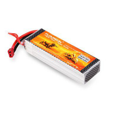 Floureon 4S 14.8V 5000mAh 30C with T Plug LiPo Battery Pack for RC Car RC Truck RC Airplane Drone