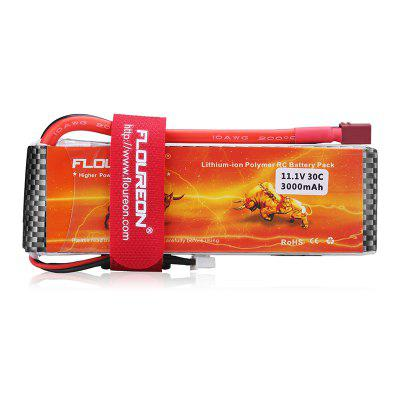 Floureon 3S 11.1V 3000mAh 30C with T Plug LiPo Battery Pack for RC Car RC Truck RC Airplane Drone
