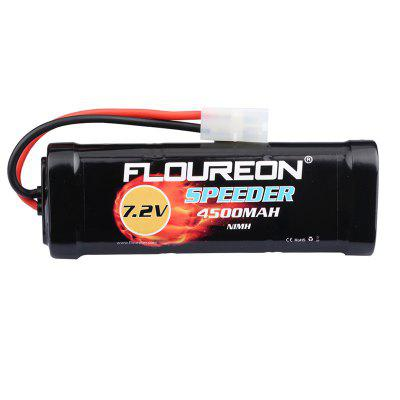 Floureon 7.2V 4500mAh Ni-MH High Capacity Battery Flat Pack with Female-tamiya Plug for RC Cars