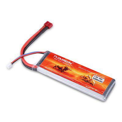 Floureon 2S1P 7.4V 3300mAh 35C with T Plug LiPo Battery Pack for RC Car RC Truggy RC Drone