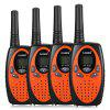 FLOUREON 8 Channel 4 Twin Walkie Talkies UHF400-470MHZ 2 Way Radio 3KM Range Interphone 0range