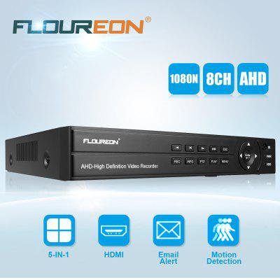 FLOUREON 8CH 1080P 1080N HDMI H-264 CCTV Security Video Recorder Cloud DVR EU