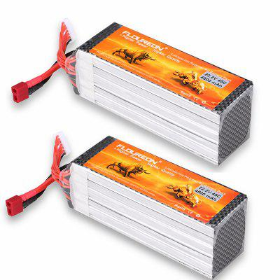 2X Floureon 22.2V 4500mAh 45C with T Plug LiPo Battery Pack for RC Evader BX Car RC Truggy RC Drone