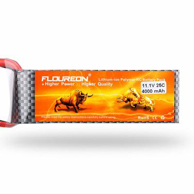 Floureon 3S1P 11.1V 4000mAh 25C with T Plug LiPo Battery Pack for RC Car RC Truggy RC Drone