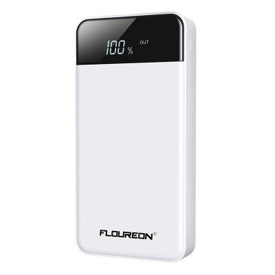 FLOUREON 20000mAh 4 USB Port And 2 Input Interfaces Portable Power Bank for Mobile Devices