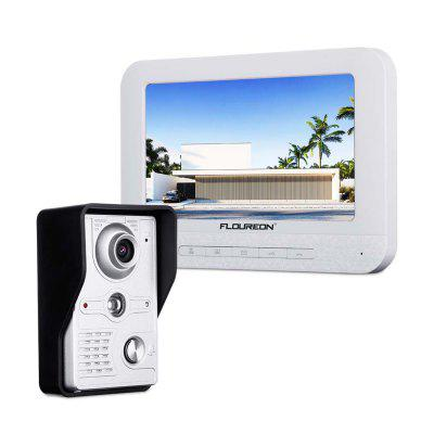 FLOUREON EU 7 inch Wired TFT LCD Video Door Phone Security Intercom Doorbell IR CCTV Camera Monitor