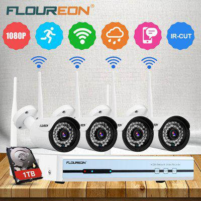 Floureon 4CH Wireless CCTV 1080P DVR Kit
