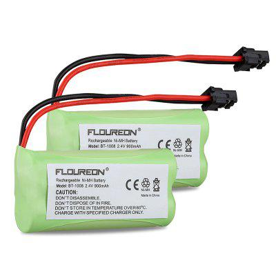 2X FLOUREON 2.4V 900mAh Cordless Phone Battery for Uniden BT-1008 BT-1016 BT-1021 WITH43-269 WX12077