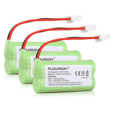 3X FLOUREON 2.4V 800mAh Ni-MH Cordless Home Phone Battery Pack for AT-T VTech